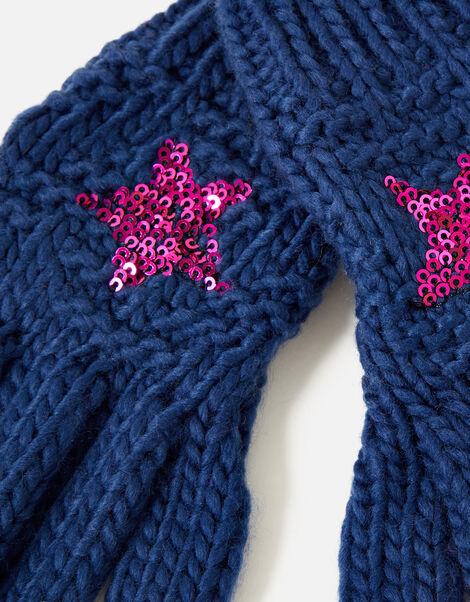 Star Gloves  Blue, Blue (NAVY), large