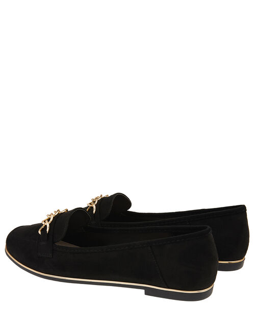 Chain Loafer Shoes, Black (BLACK), large