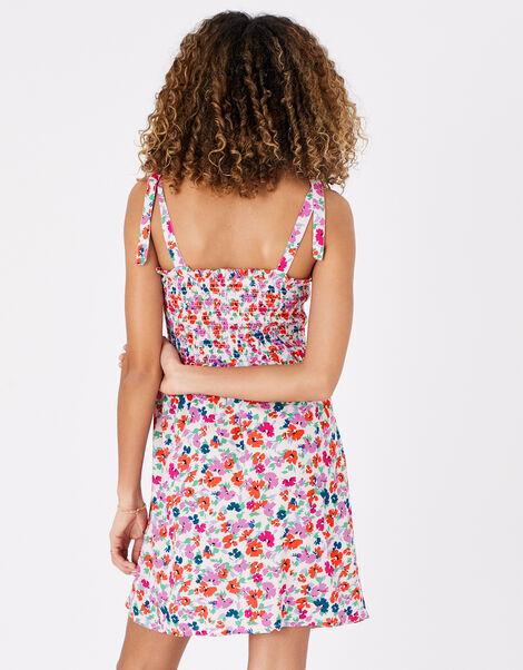 Floral Dress in LENZING™ ECOVERO™ Multi, Multi (BRIGHTS-MULTI), large