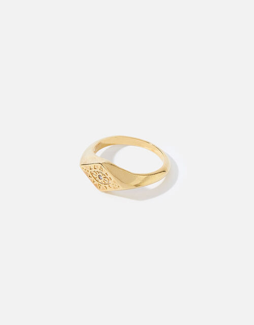 Gold-Plated Talisman Signet Ring , Gold (GOLD), large