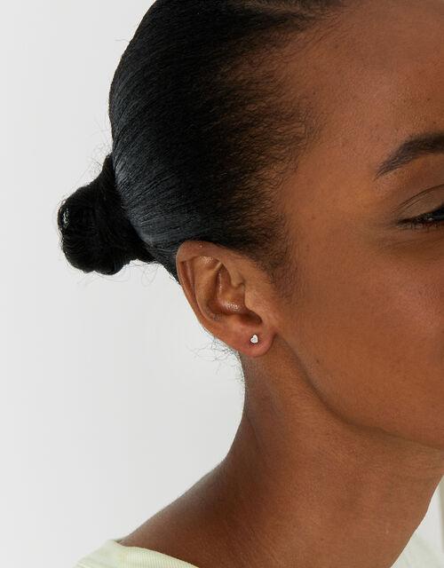 Sterling Silver Stud Earring Set, , large