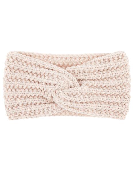 Chunky Knit Bando Pink, Pink (PALE PINK), large