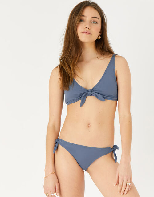 Bunny Tie Bikini Top, Grey (GREY), large