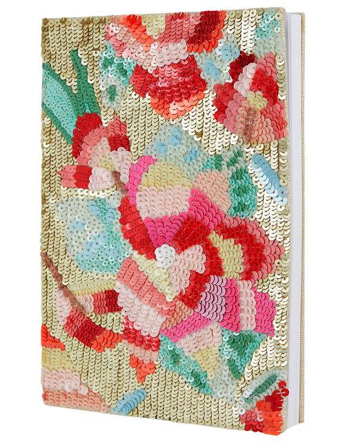 Jasmine Floral Sequin Notebook, , large