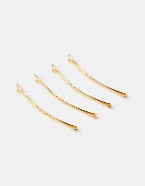 Long Metal Hair Grip Set, Gold (GOLD), large