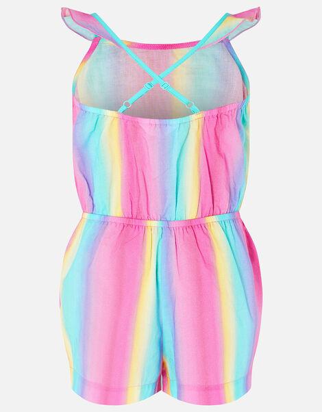 Girls Rainbow Playsuit Multi, Multi (BRIGHTS-MULTI), large