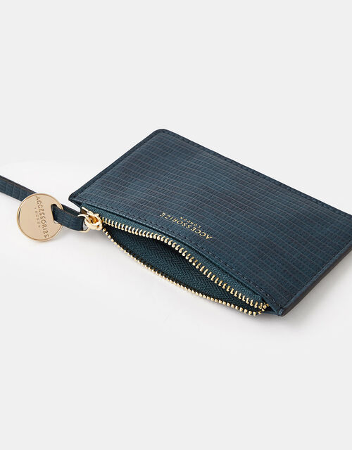 Shoreditch Card Holder with Charm, Teal (TEAL), large
