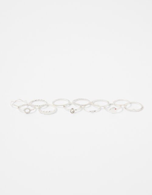 Simple Ring Multipack, Silver (SILVER), large