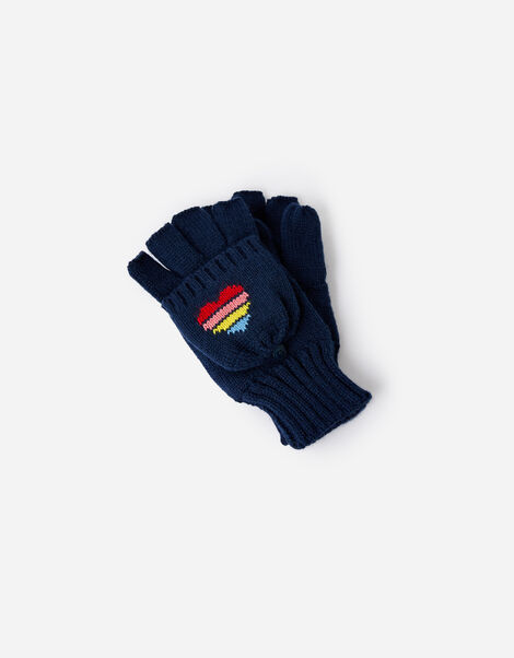 Rainbow Heart Capped Gloves, , large