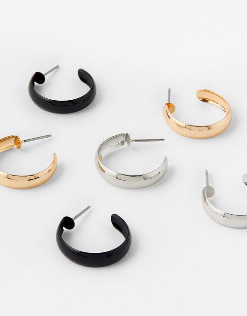 Enamel Hoop Earring Set , , large