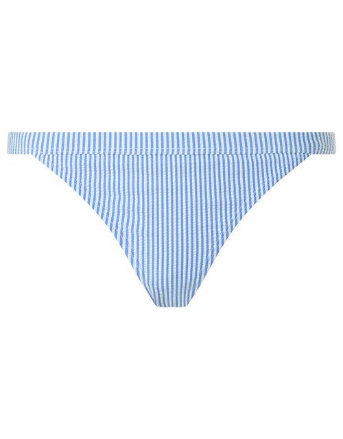 Stripe Bikini Briefs, Blue (BLUE), large