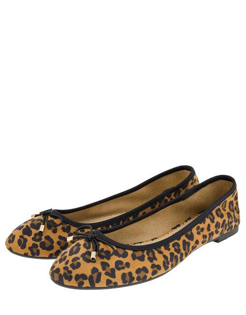 Sophia Leopard Bow Ballerina Flats, Leopard (LEOPARD), large