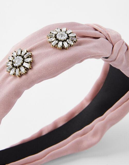 Estella Crystal Knot Headband, , large