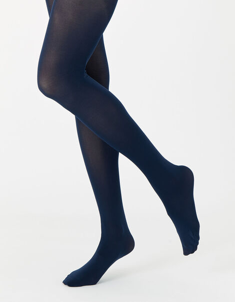 40 Denier Luxury Italian Tights Multipack Blue, Blue (NAVY), large