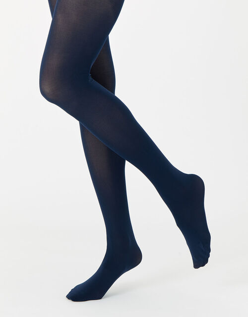 40 Denier Luxury Italian Tights Multipack, Blue (NAVY), large
