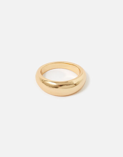 Reconnected Round Edge Band Ring Gold, Gold (GOLD), large