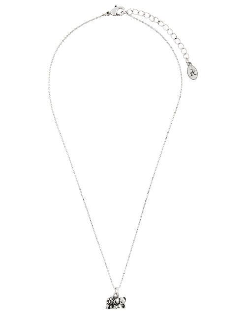 Elephant Pendant Necklace, , large
