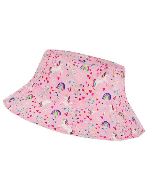 Retro Unicorn Reversible Bucket Hat, Pink (PINK), large