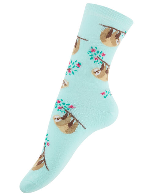 Swinging Sloth Ankle Socks, , large
