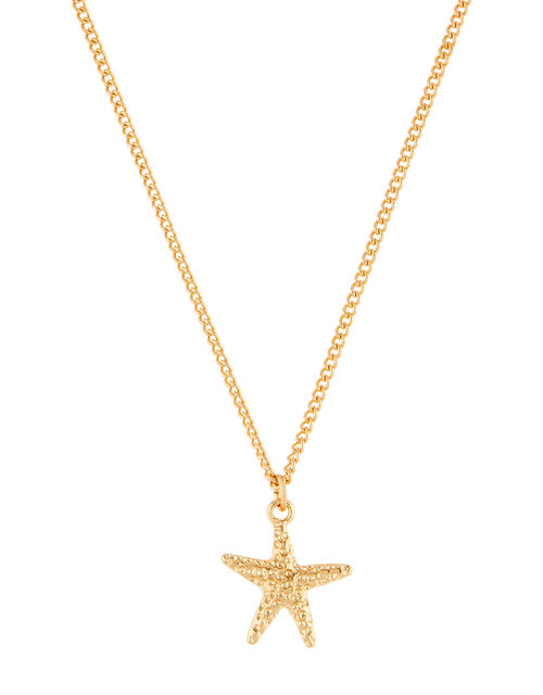 Starfish Pendant Necklace, Gold (GOLD), large