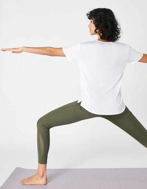 Plain V-Neck T-Shirt, White (WHITE), large