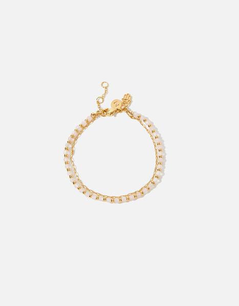 Gold-Plated Rose Bead Bracelet, , large
