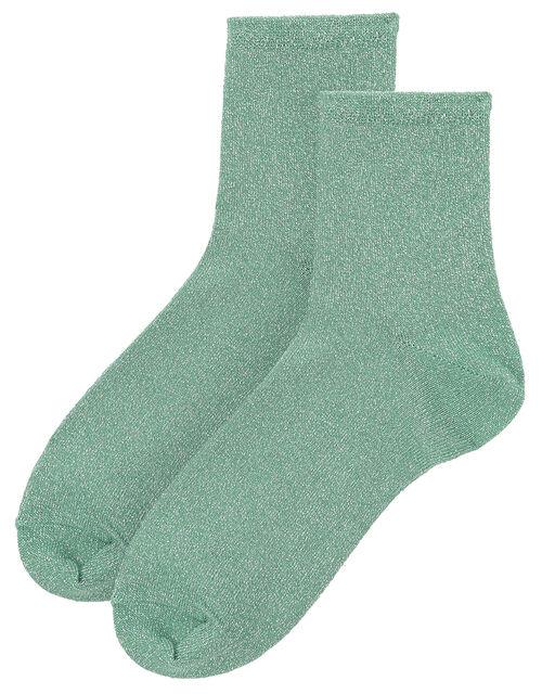 Sparkle Ankle Socks, Blue (AQUA), large