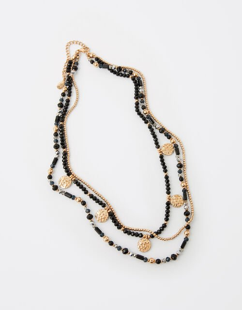 Beaded Multi-Row Necklace, , large
