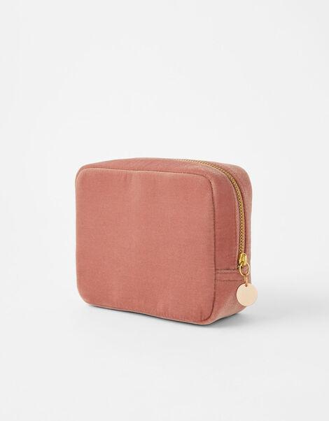 Beaded Ring Large Velvet Pouch Bag, , large
