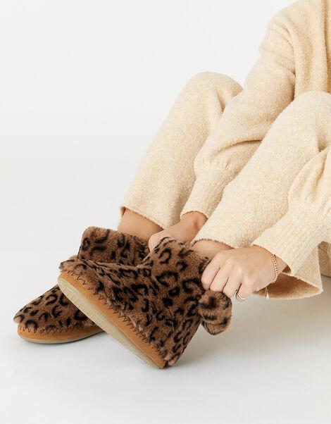 Super-Soft Slipper Boots Leopard, Leopard (LEOPARD), large