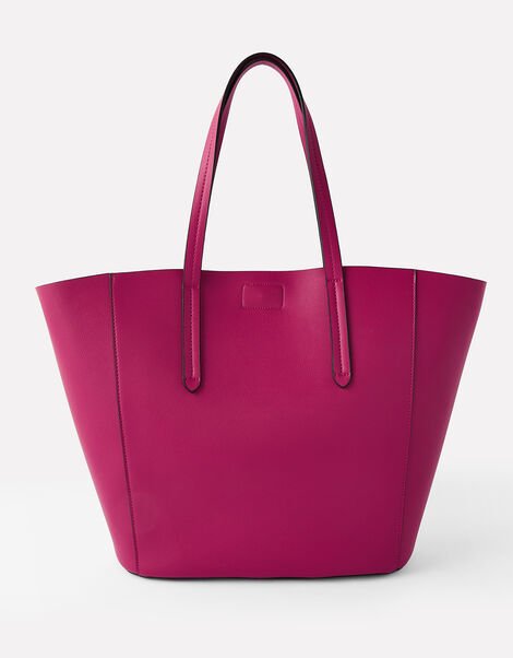 Kayla Curve Tote Bag Red, Red (BERRY), large