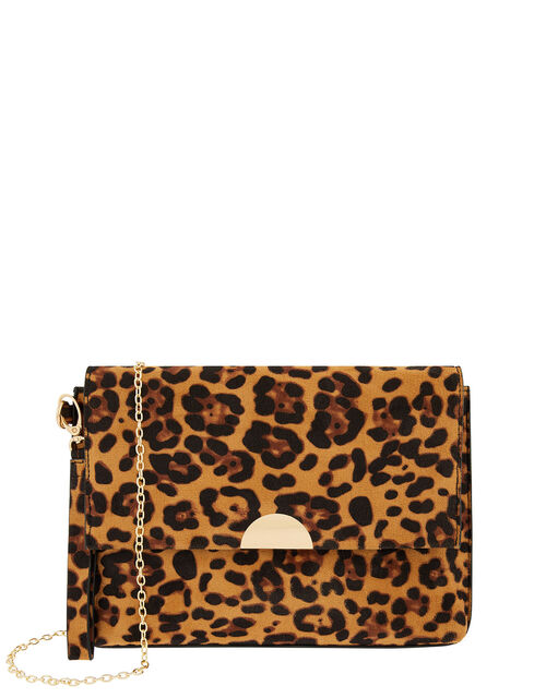Leopard Wristlet Clutch Bag, , large