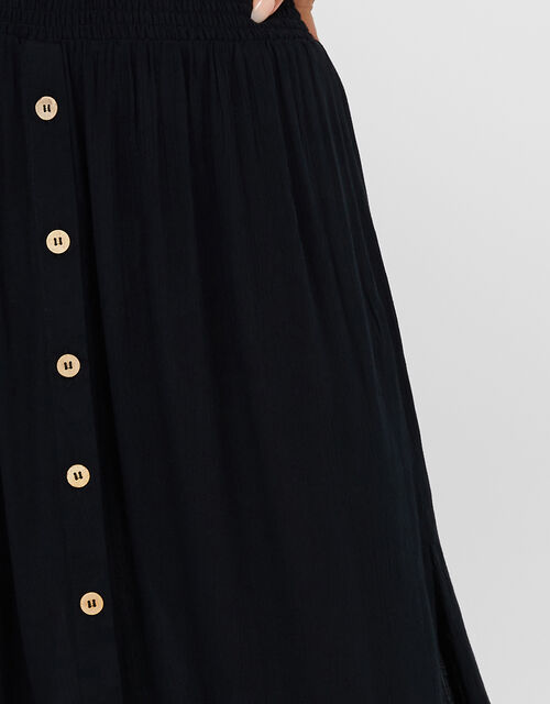 Charlotte Beach Maxi Skirt, Black (BLACK), large