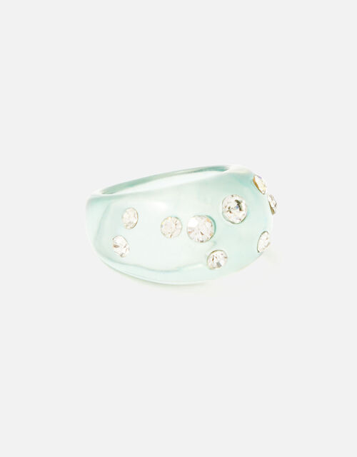 Crystal Jelly Ring, Green (GREEN), large