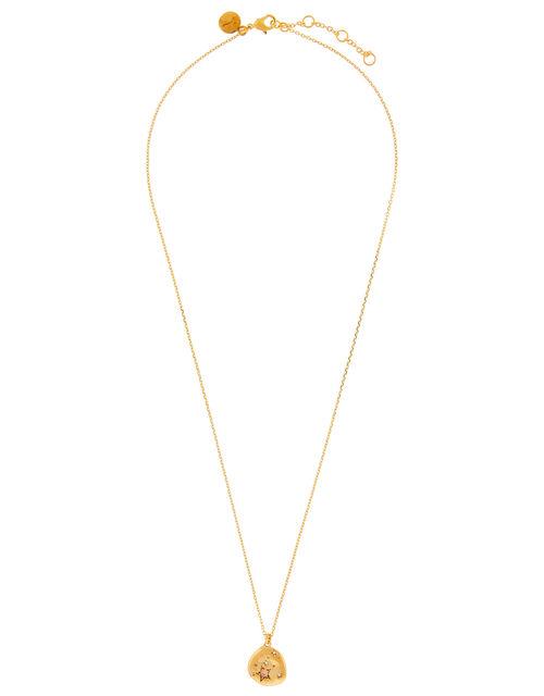 Gold-Plated Opal Zodiac Necklace - Leo, , large