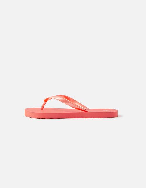 Plain EVA Flip Flops, Orange (CORAL), large