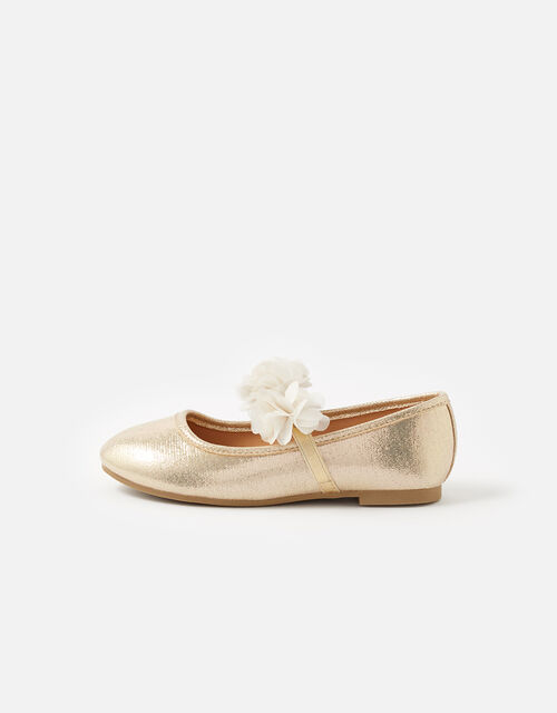 Corsage Ballerina Flats , Gold (GOLD), large