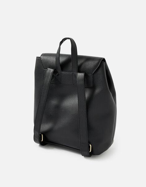 Kylie Drawstring Backpack Black, Black (BLACK), large