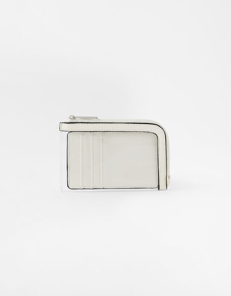 Clear Card Holder White, White (WHITE), large