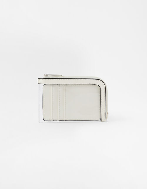 Clear Card Holder, White (WHITE), large
