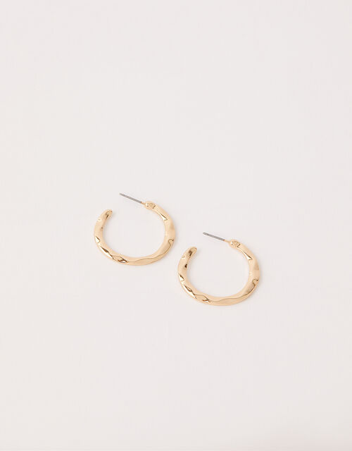 Textured Small Hoop Earrings, , large