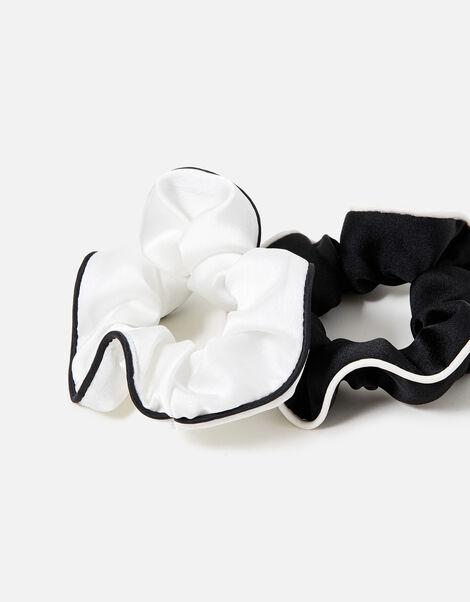 Satin Piping Scrunchies, , large