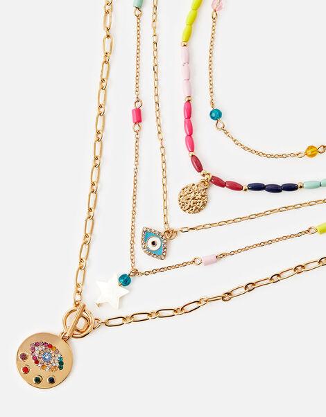 Rainbow Layered Necklace, , large