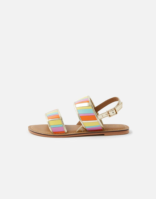 Rainbow Stripe Sandals, Multi (BRIGHTS-MULTI), large