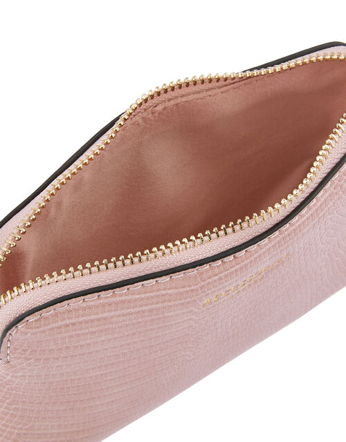 Resin and Reptile Coin Purse, Pink (PINK), large