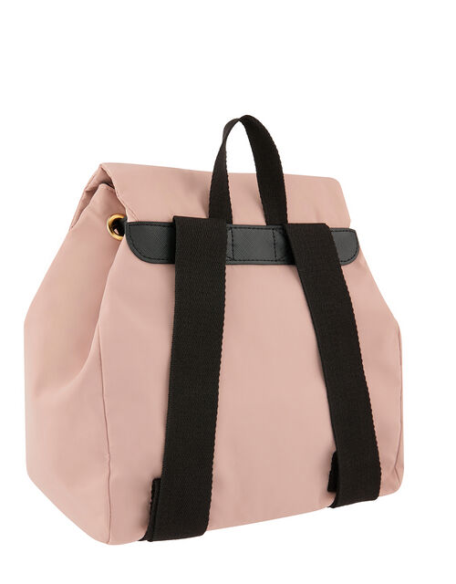 Sporty Nylon Backpack, Pink (PINK), large