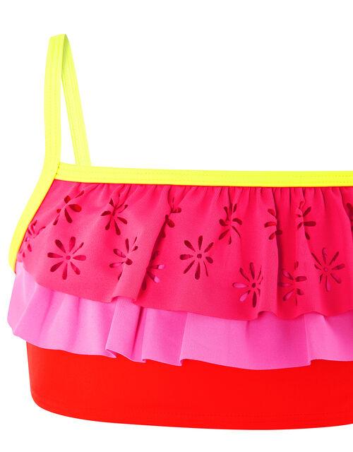 Colour-Block Frilled Bikini Set, Multi (BRIGHTS-MULTI), large