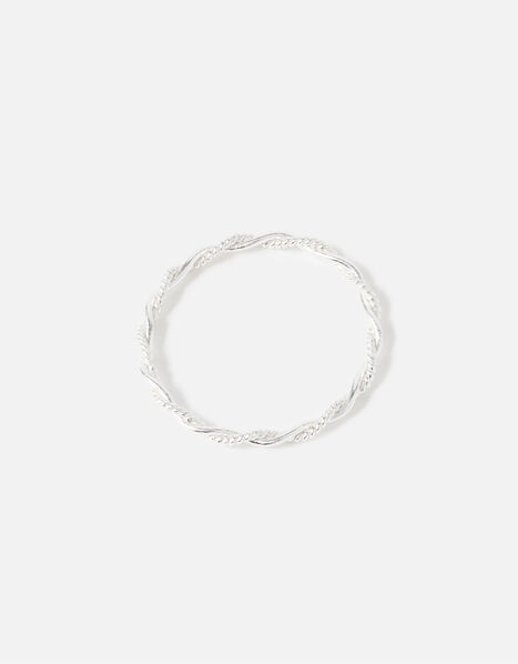 Sterling Silver Twisted Rope Ring Silver, Silver (ST SILVER), large