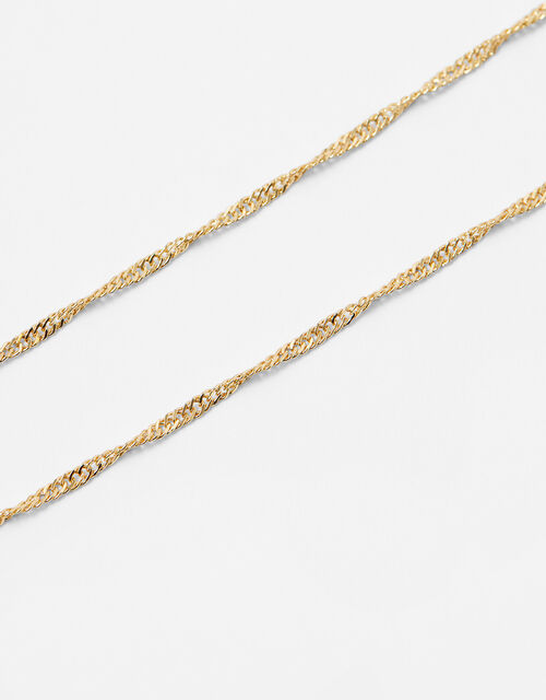 Twist Chain Necklace, Gold (GOLD), large