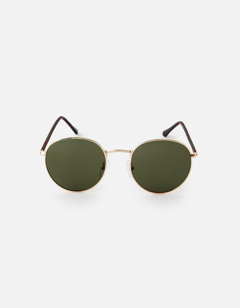 Roxy Round Sunglasses  Gold, Gold (GOLD), large